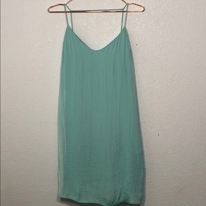 The Impeccable Pig Mint Blue Strappy Slip Dress